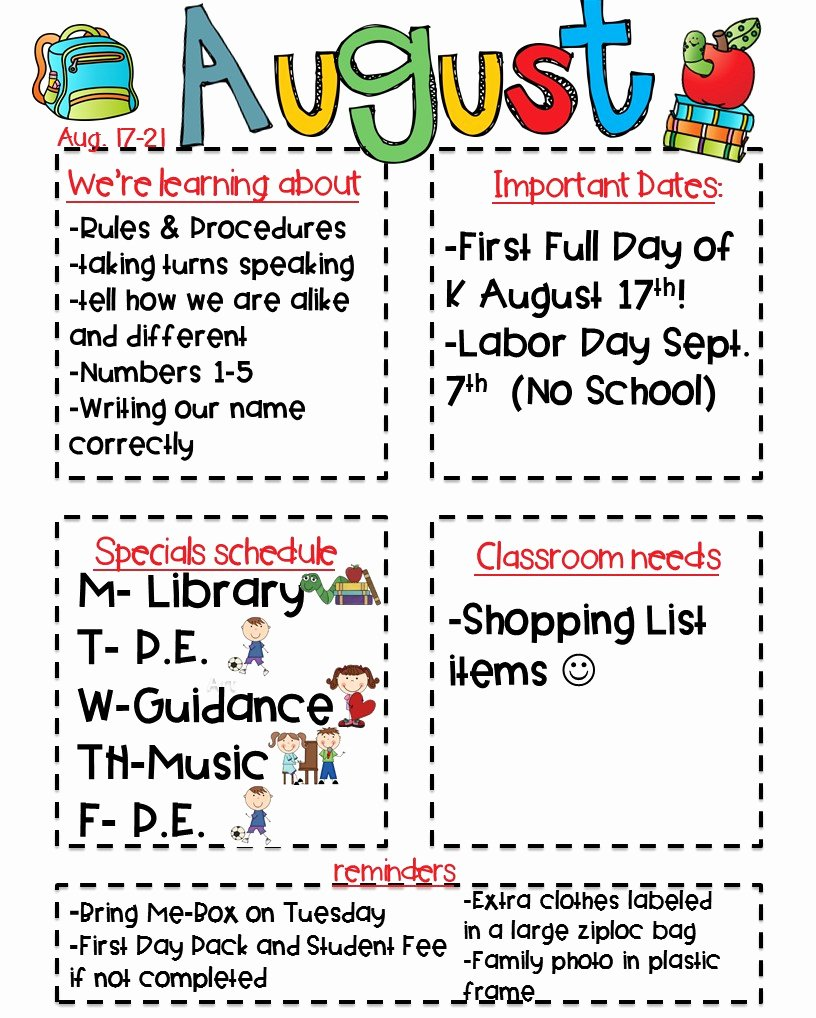 Free Kindergarten Newsletter Template New Classroom Newsletter Freebie Kickin It In Kindergarten