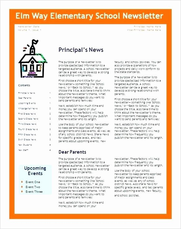 Free Kindergarten Newsletter Template Unique Free Editable Monthly and Weekly Newsletter Templates