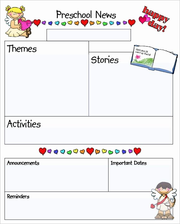 Free Kindergarten Newsletter Template Unique Sample Templates Free formats Excel Word