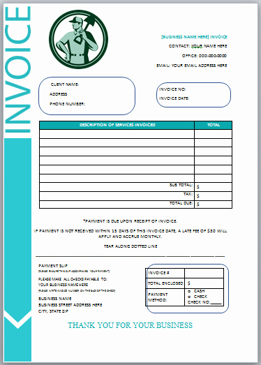 Free Lawn Care Invoice Template Awesome 10 Free Landscaping Invoice Templates [professional
