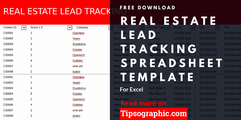 Free Lead Tracking Spreadsheet Template Fresh Real Estate Lead Tracking Spreadsheet Template for Excel