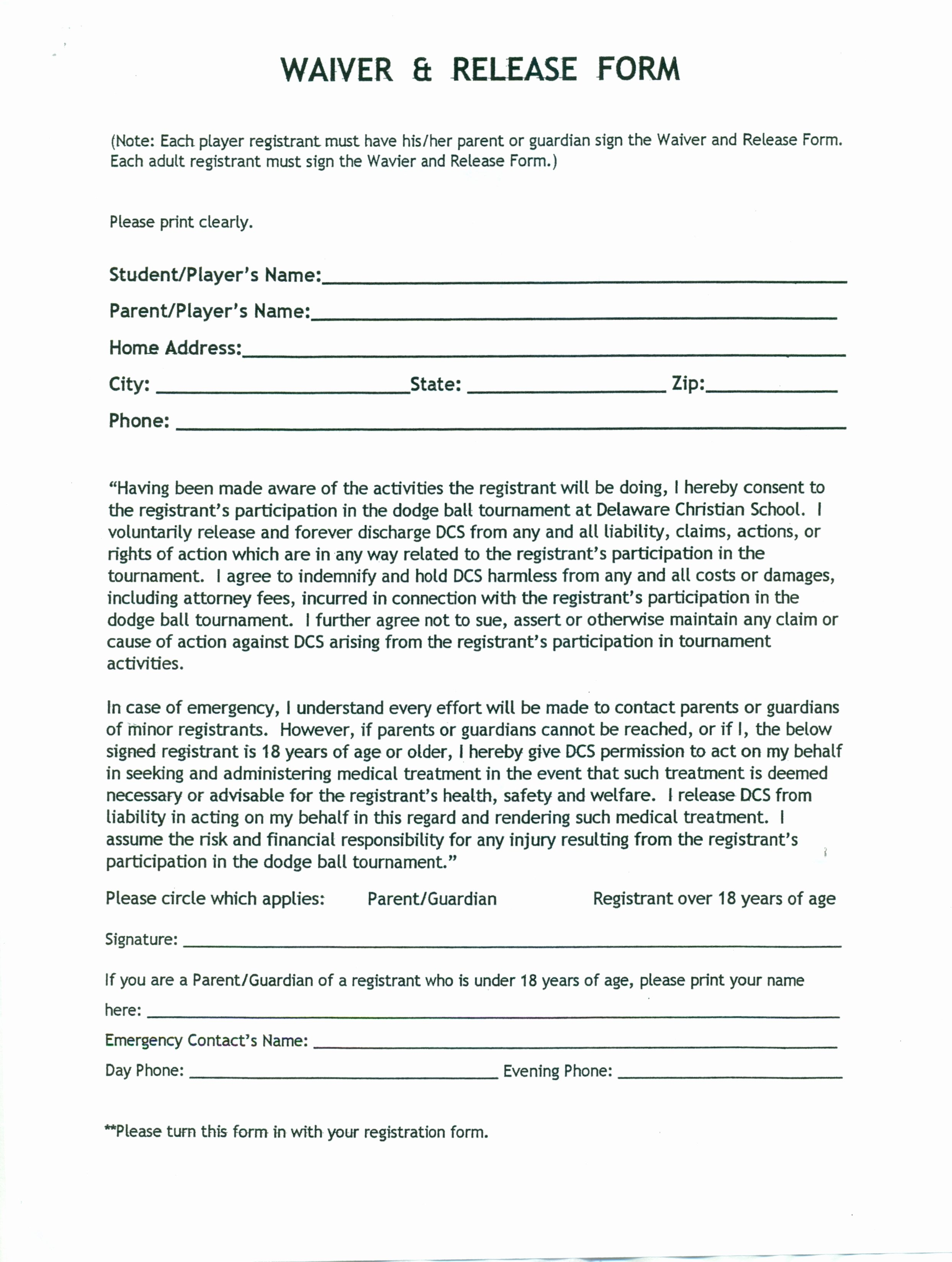 Free Liability Waiver Template Lovely Liability Insurance Insurance Liability Waiver Template