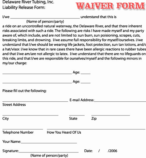 Free Liability Waiver Template Unique Free Printable Liability Waiver forms form Generic