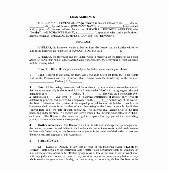 Free Loan Agreement Template Word Awesome Contract Template – 23 Free Word Excel Pdf Documents