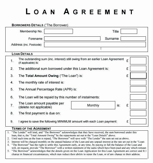 Free Loan Agreement Template Word Elegant Personal Loan Agreements Free Personal Loan Agreement
