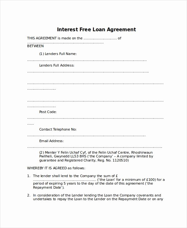 Free Loan Agreement Template Word Luxury 10 Loan Agreement Templates Word Pdf Pages