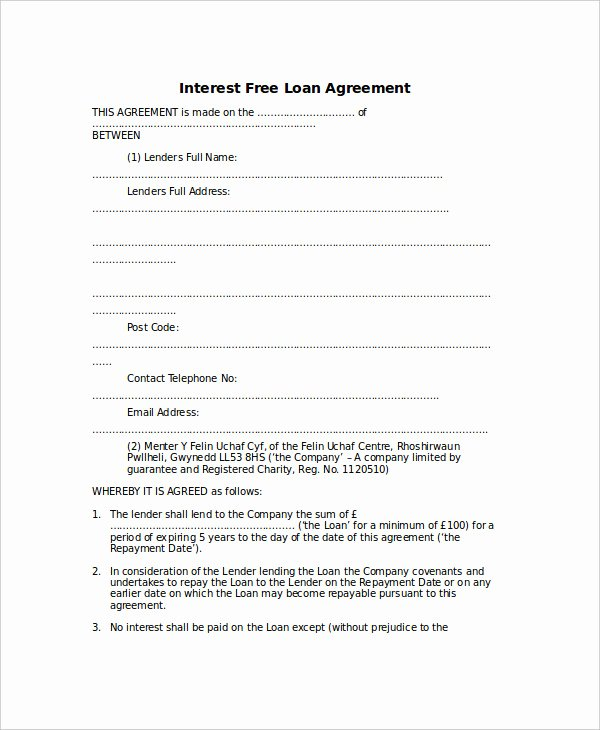 Free Loan Agreement Template Word Luxury Loan Agreement Template 17 Free Word Pdf Document