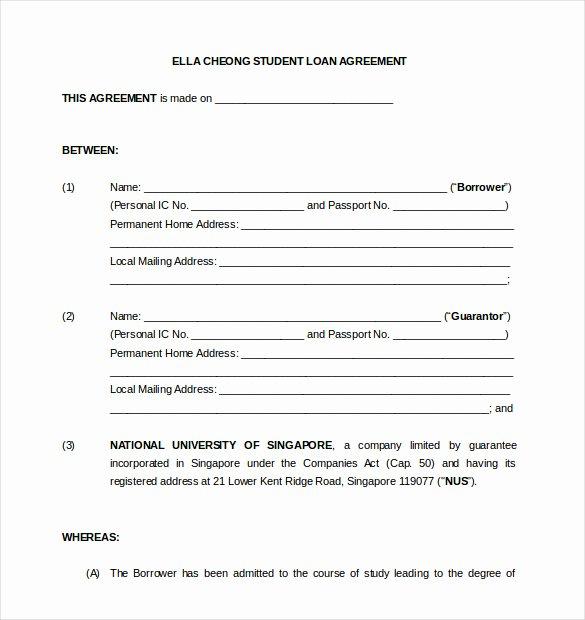 Free Loan Document Template Beautiful 18 Loan Agreement Templates – Free Word Pdf format