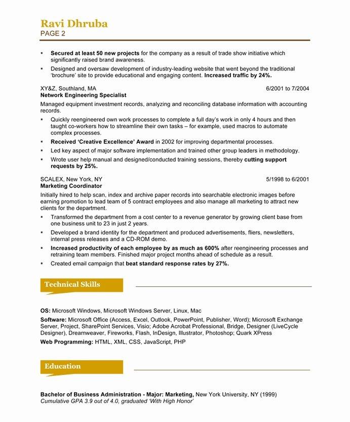 Free Marketing Resume Template Awesome social Media Marketing Resume Sample