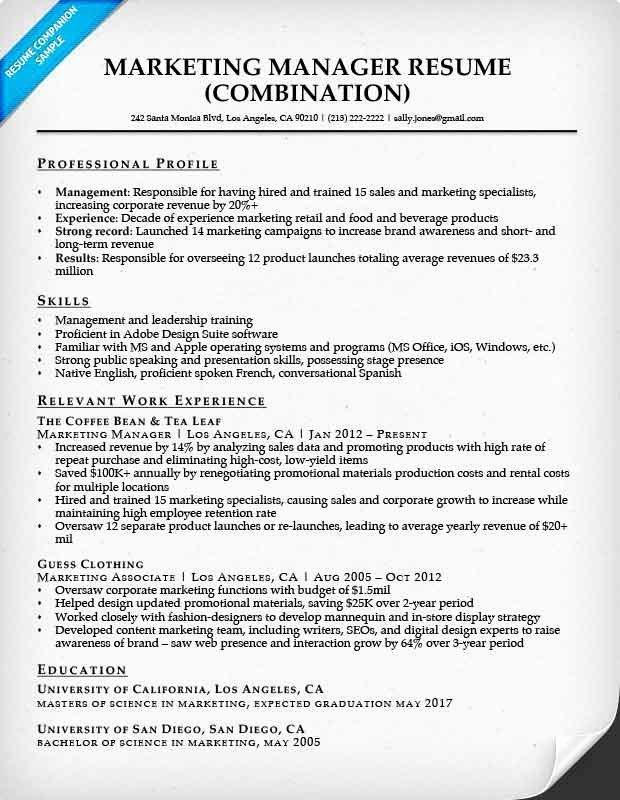 Free Marketing Resume Template Beautiful Bination Resume Samples