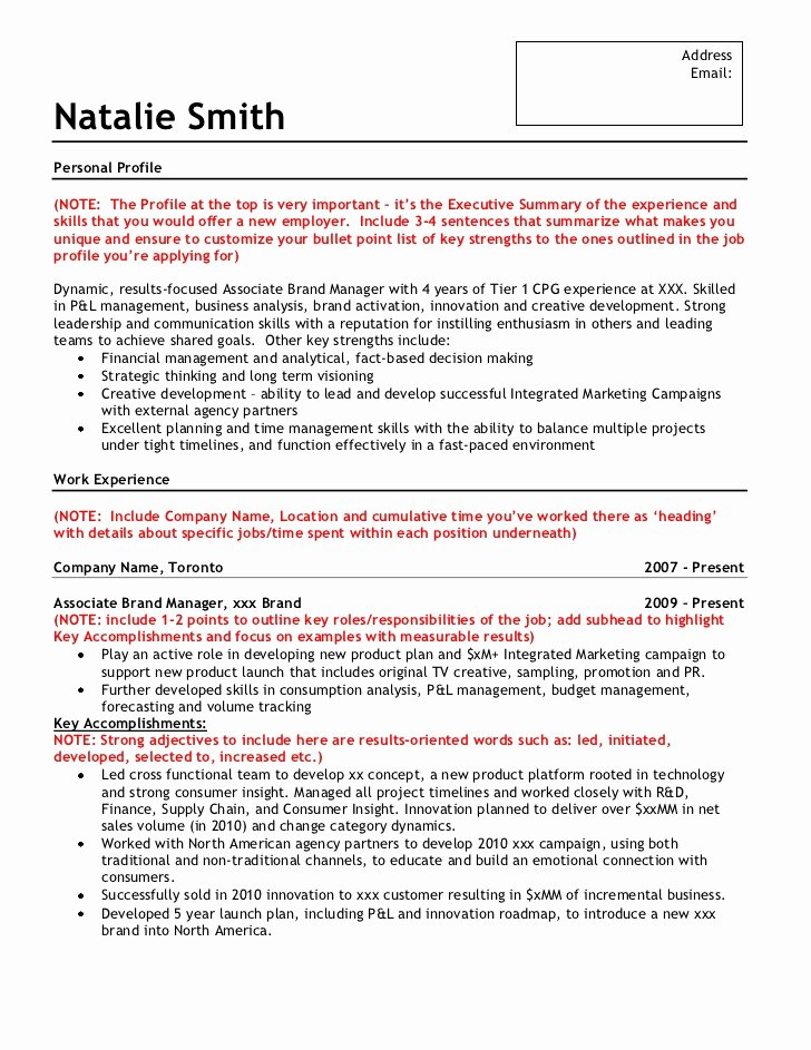Free Marketing Resume Template Best Of Sample Brand Marketing Resume
