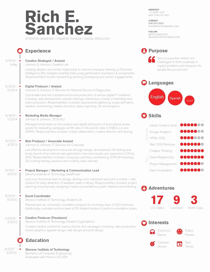 Free Marketing Resume Template Best Of Simple & Clean Infographic Timeline Resume Design for
