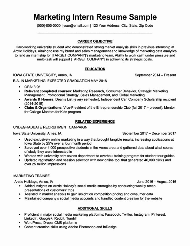 Free Marketing Resume Template Fresh Dean S List Resume Samples with It Itb2core