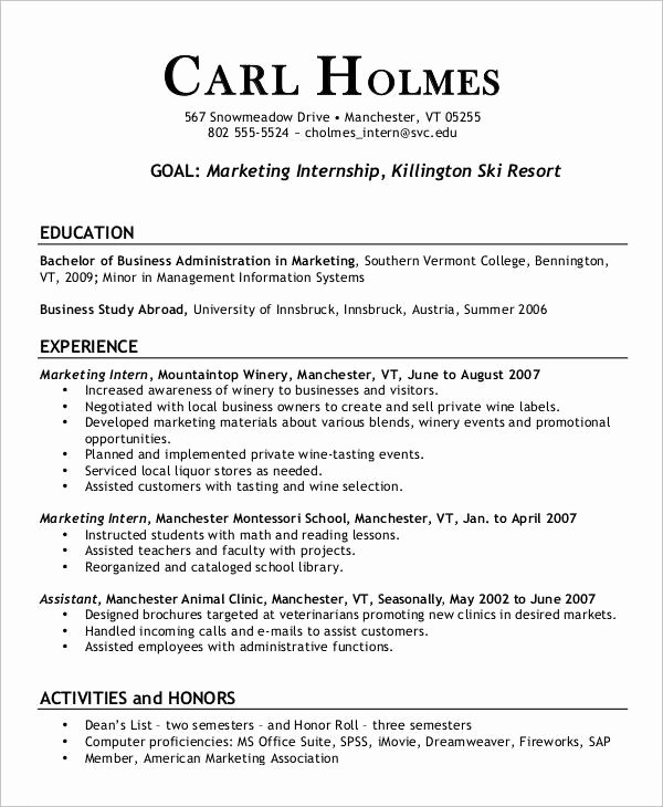 Free Marketing Resume Template Lovely 23 Marketing Resume Templates