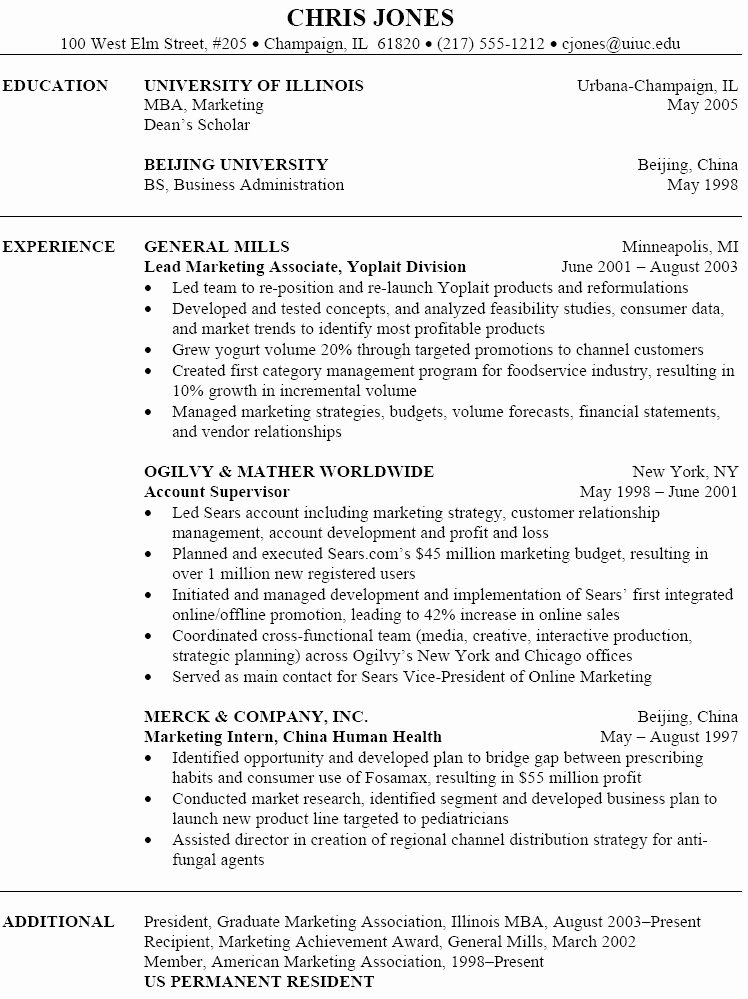 Free Marketing Resume Template Lovely Marketing Job Resume Sample 915 O