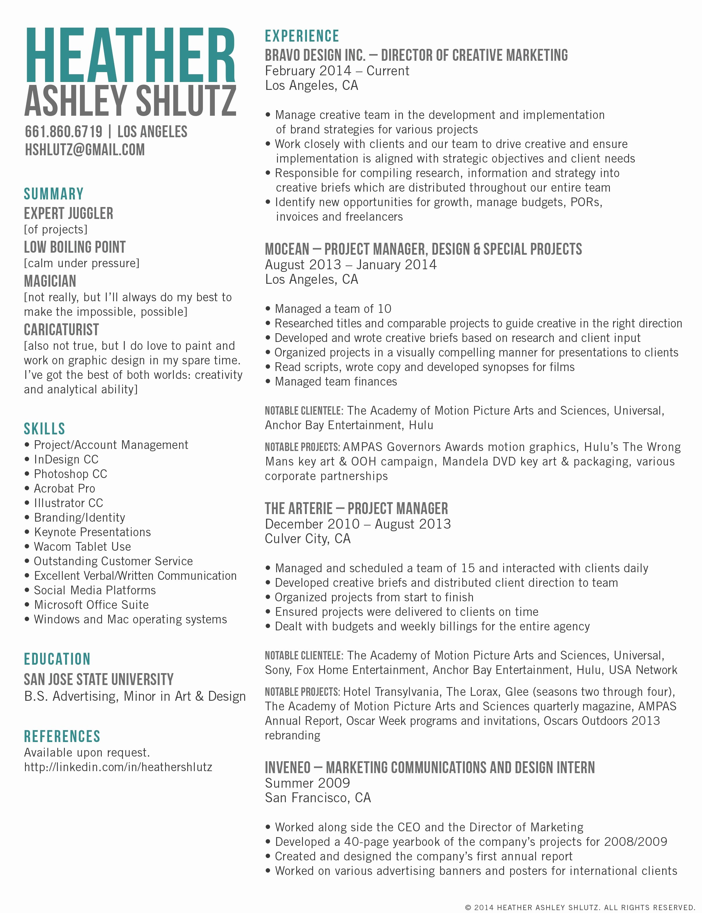 Free Marketing Resume Template Unique Creative Marketing Director Resume Google Search