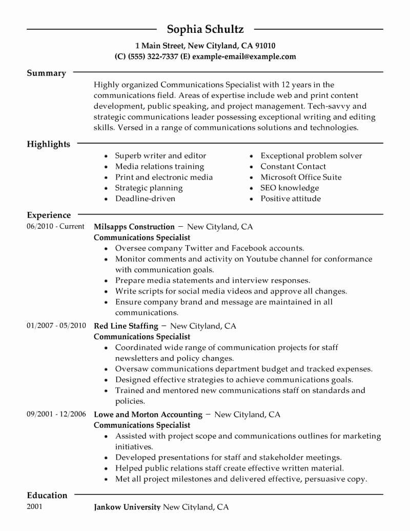 Free Marketing Resume Template Unique Marketing Resume Examples