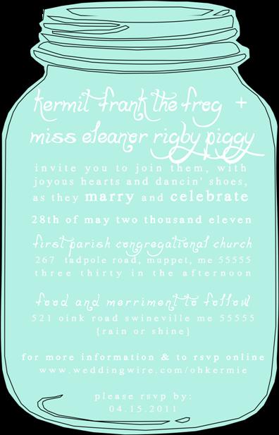 Free Mason Jar Invitation Template Awesome Like A Cup Tea Mason Jar Wedding Invitation Set – Diy