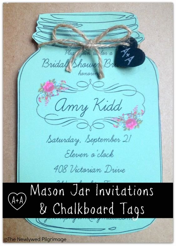 Free Mason Jar Invitation Template Beautiful Mason Jar Invitations and Chalkboard Tags for Weddings or