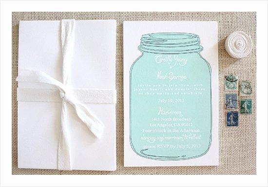 Free Mason Jar Invitation Template Best Of Free Mason Jar Wedding Invitation Printable Templates