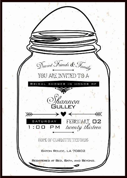 Free Mason Jar Invitation Template Fresh Mason Jar Printable Invitations Negocioblog