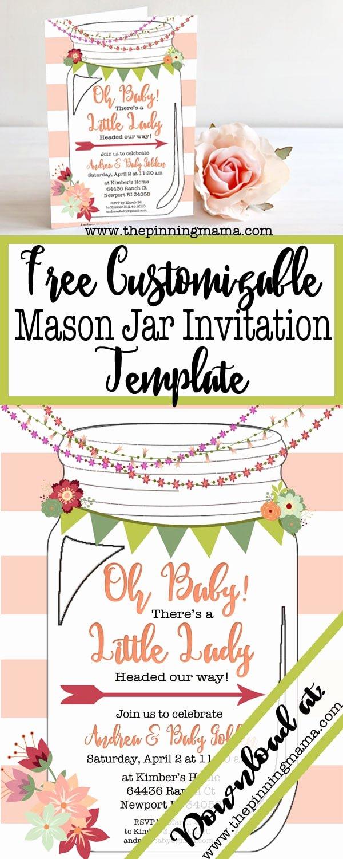 Free Mason Jar Invitation Template Inspirational Free Printable Mason Jar Invitation