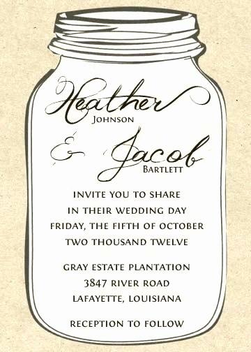 Free Mason Jar Invitation Template Lovely Mason Jar Outline Printable Easy Craft Ideas