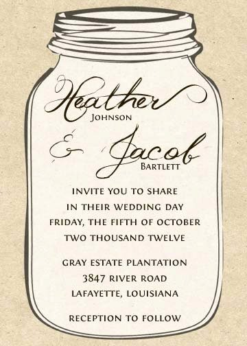 Free Mason Jar Invitation Template Luxury 6 Best Of Free Printable Mason Jar Invitation