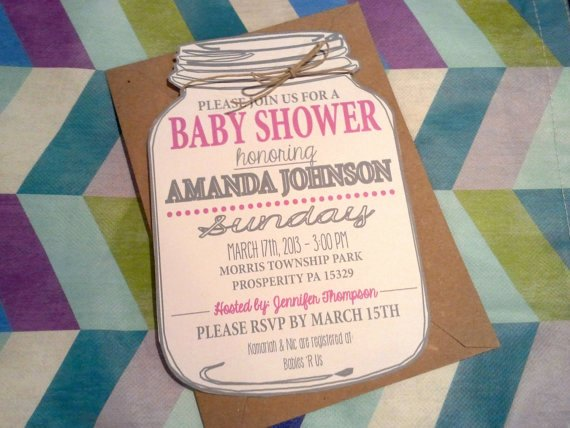 Free Mason Jar Invitation Template Luxury Baby Shower Invitation Templates Mason Jar Baby Shower