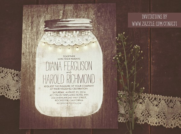 Free Mason Jar Invitation Template Luxury Mason Jar and String Lights Wedding Invitations – Need