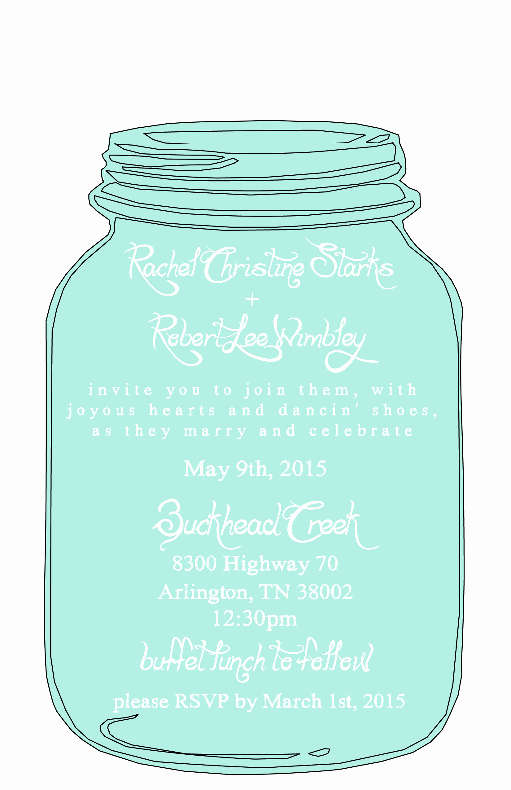 Free Mason Jar Invitation Template New Mason Jar Free Printable Wedding Invitations Templates