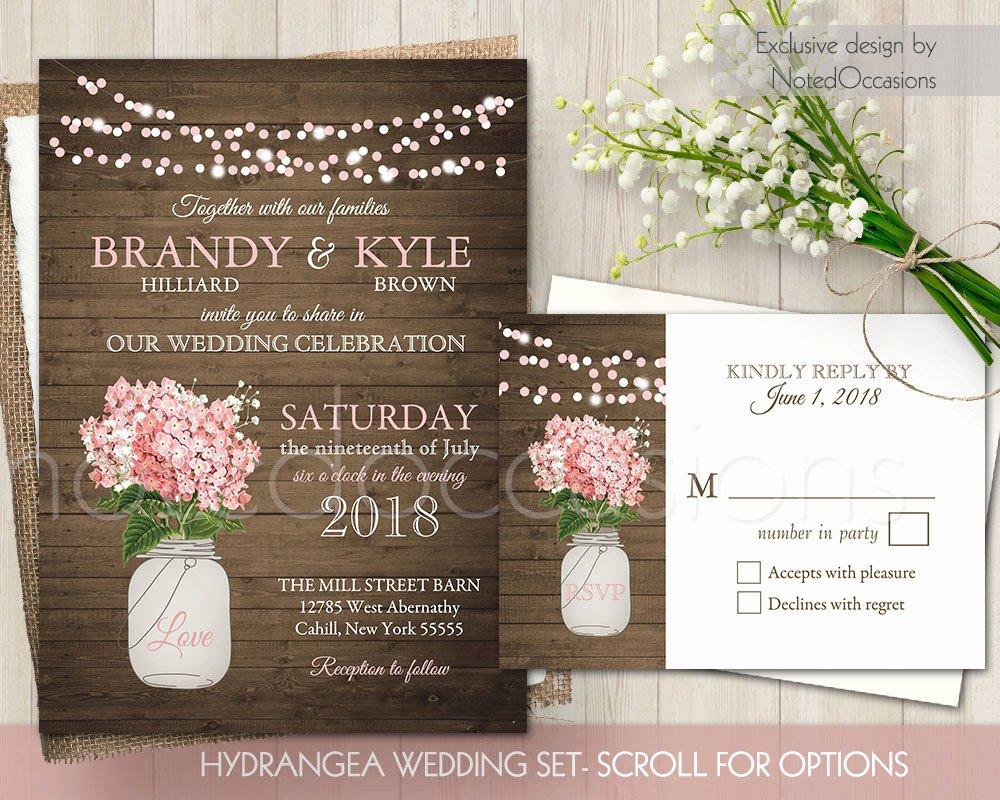 Free Mason Jar Invitation Template Unique Rustic Wedding Invitation Printable Mason Jar Wedding