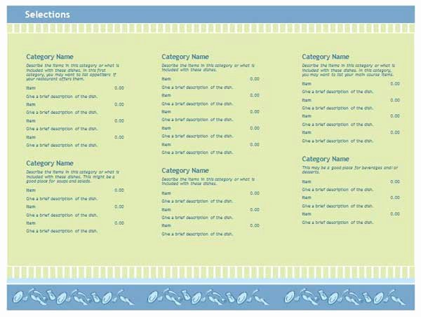 Free Menu Template Microsoft Word Awesome Free Restaurant Menu Templates Microsoft Word Templates
