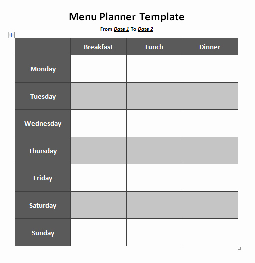 Free Menu Template Microsoft Word Beautiful Menu Planner Template 8 Free Printable Templates Word