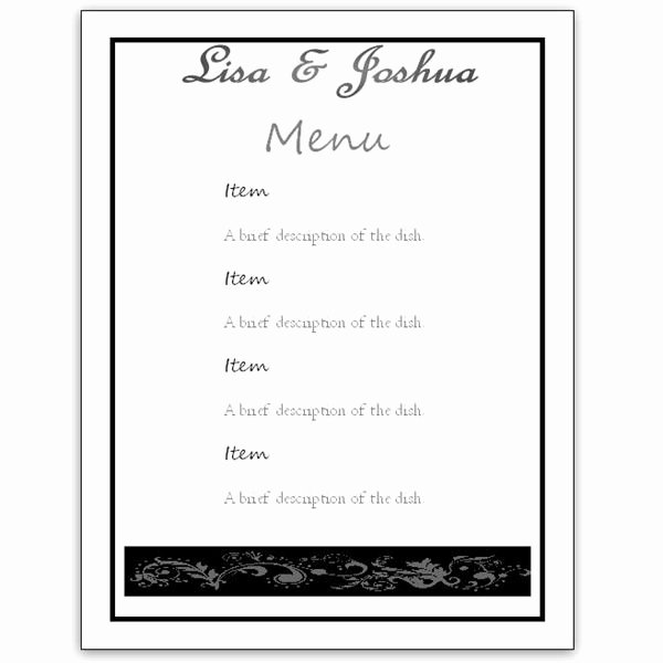Free Menu Template Microsoft Word Beautiful Menu Template Word