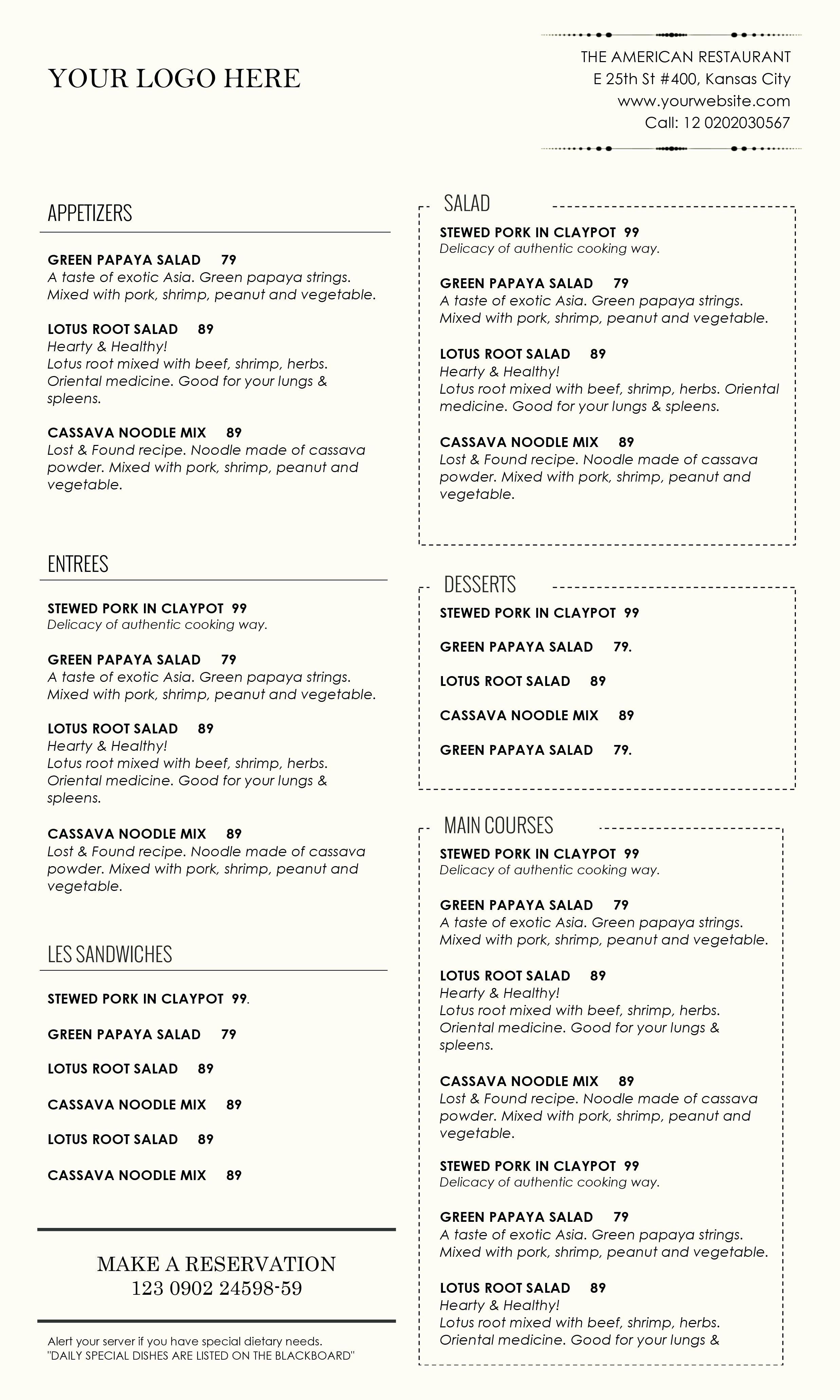 Free Menu Template Microsoft Word Beautiful Template Microsoft Fice Menu Template