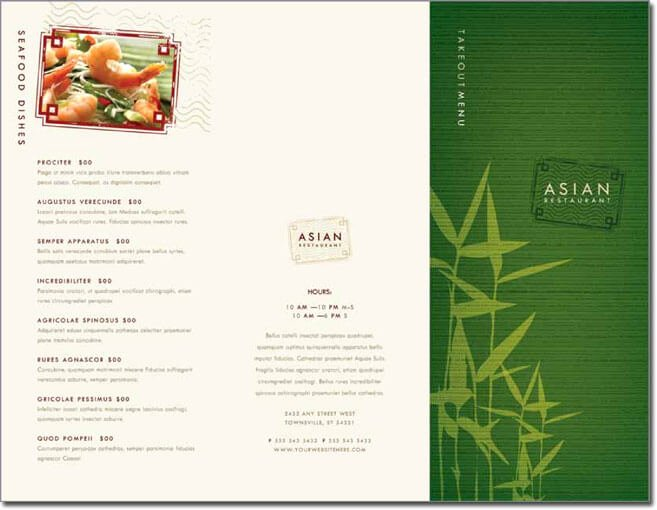 Free Menu Template Microsoft Word Inspirational 12 Best Chinese Food Restaurant Menu Templates