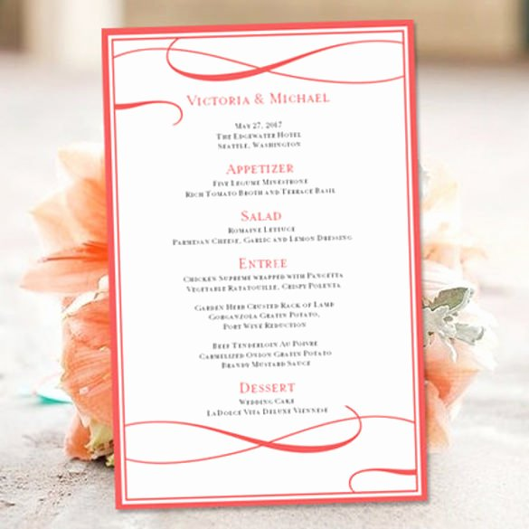 Free Menu Template Microsoft Word Inspirational 43 Wedding Templates Word