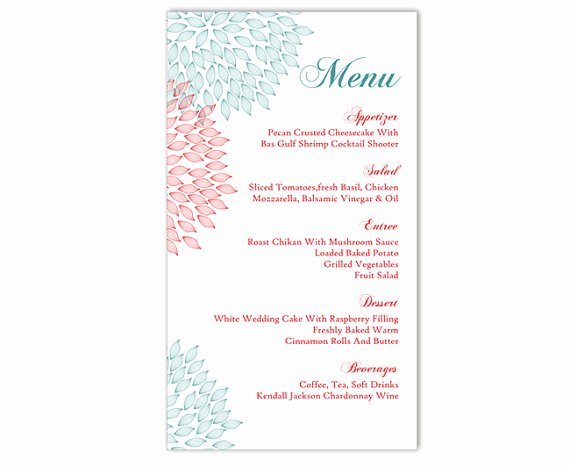 Free Menu Template Microsoft Word Inspirational Wedding Menu Template Diy Menu Card Template Editable Text