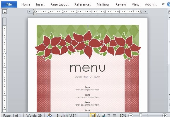 Free Menu Template Microsoft Word Lovely Best Menu Maker Templates for Word
