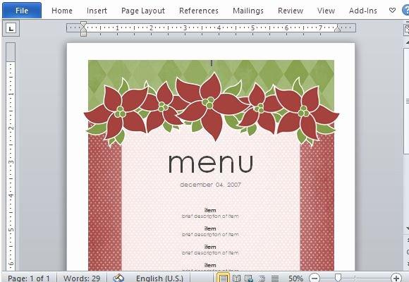 Free Menu Template Microsoft Word Lovely Best Menu Maker Templates for Word