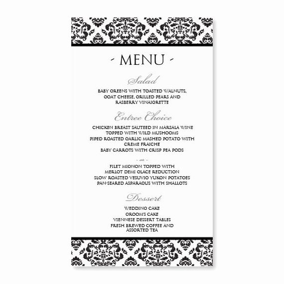 Free Menu Template Microsoft Word Lovely Diy Menu Card Template Instant Download Edit by Karmakweddings