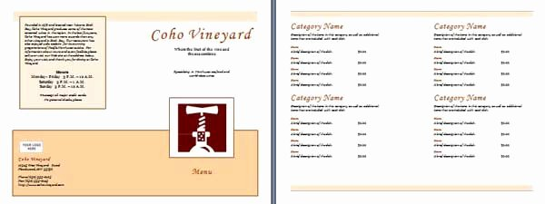 Free Menu Template Microsoft Word Lovely Free Restaurant Menu Templates Microsoft Word Templates
