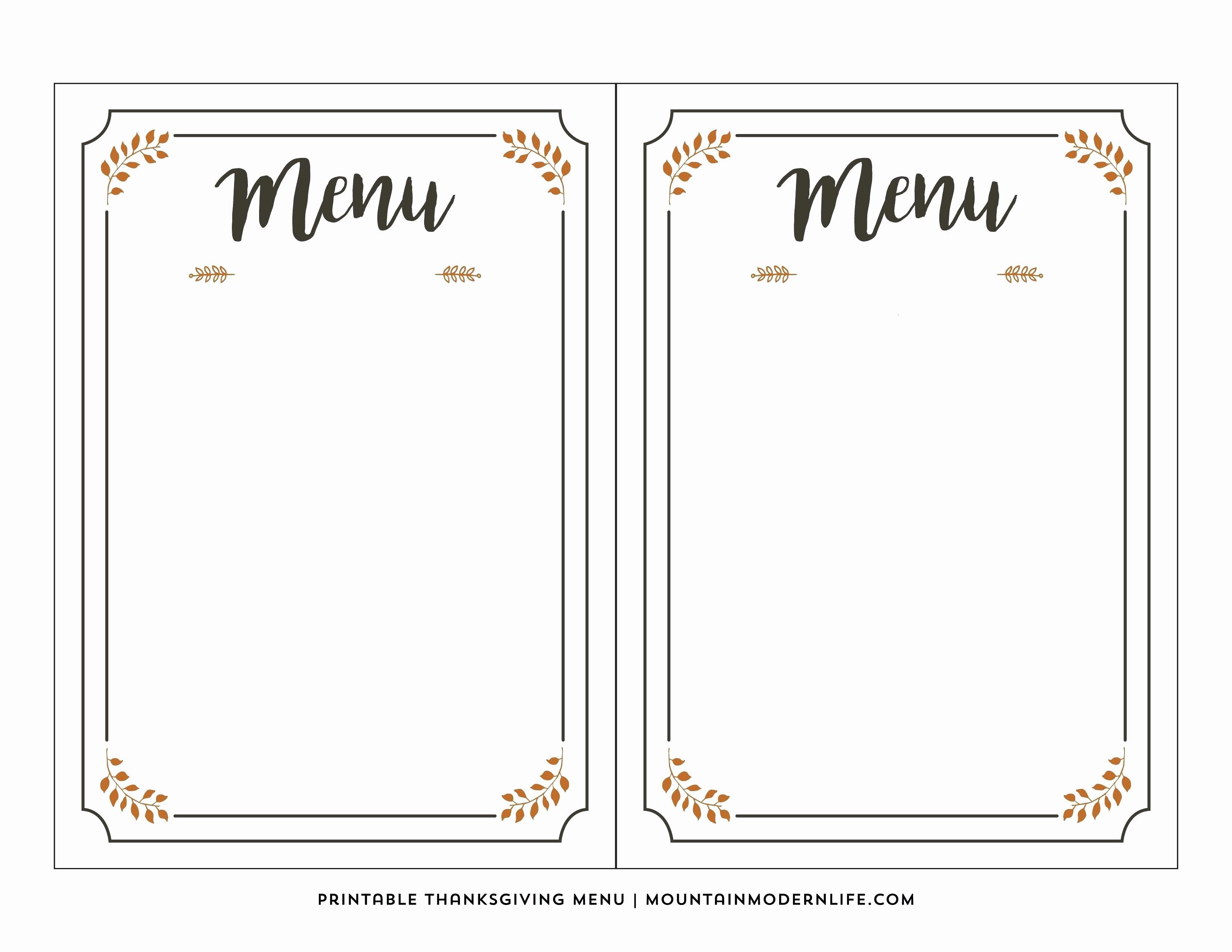 Free Menu Template Word Elegant Editable Menu Template Free Download Freemium Templates