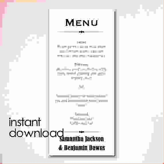 Free Menu Template Word Elegant Menu Template Word Free Download the Best Home School