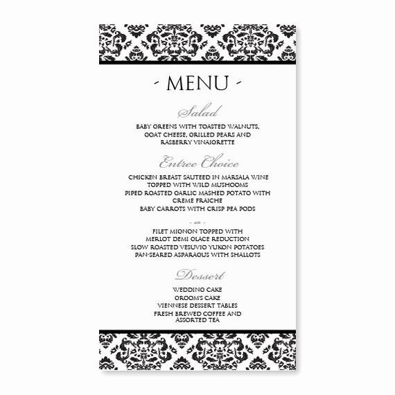Free Menu Template Word Fresh Diy Menu Card Template Instant Download Edit by Karmakweddings