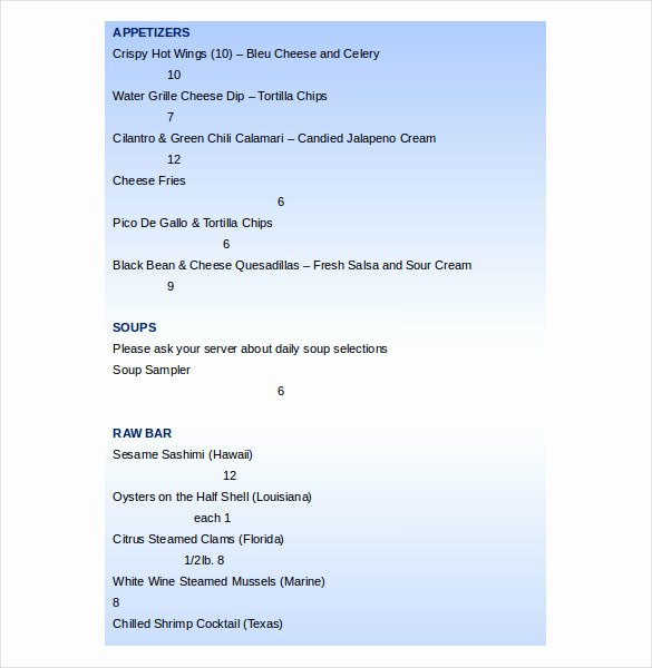 Free Menu Template Word Lovely 20 Word Menu Templates Free Download