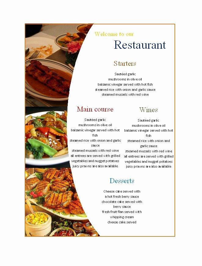 Free Menu Template Word New 31 Free Restaurant Menu Templates & Designs Free