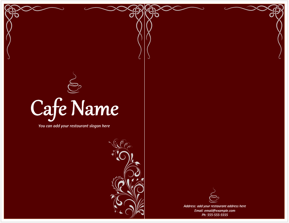 Free Menu Template Word Unique Cafe Menu Template Free Template Downloads