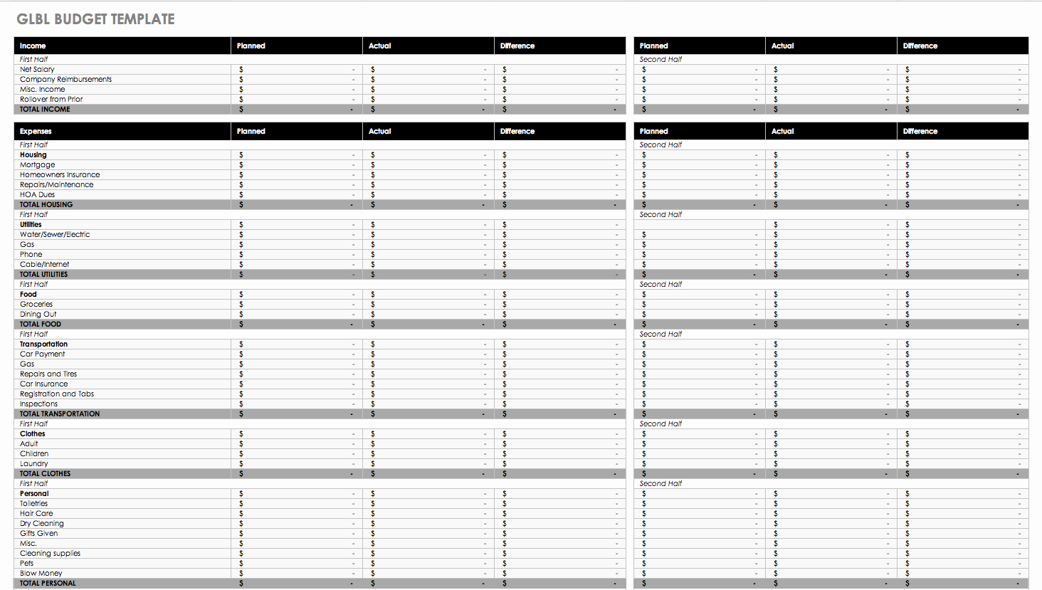 Free Monthly Expenses Template Elegant Free Monthly Bud Templates